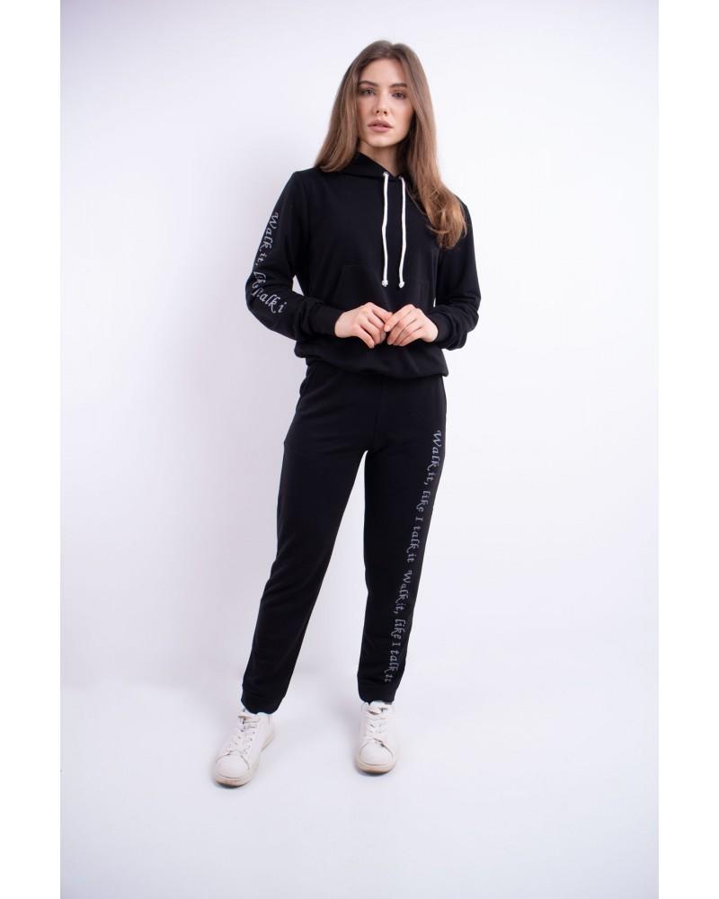 Спортивный костюм женский Кенди (черный)