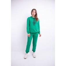 Женский спортивный костюм Штрихкод (зеленый)