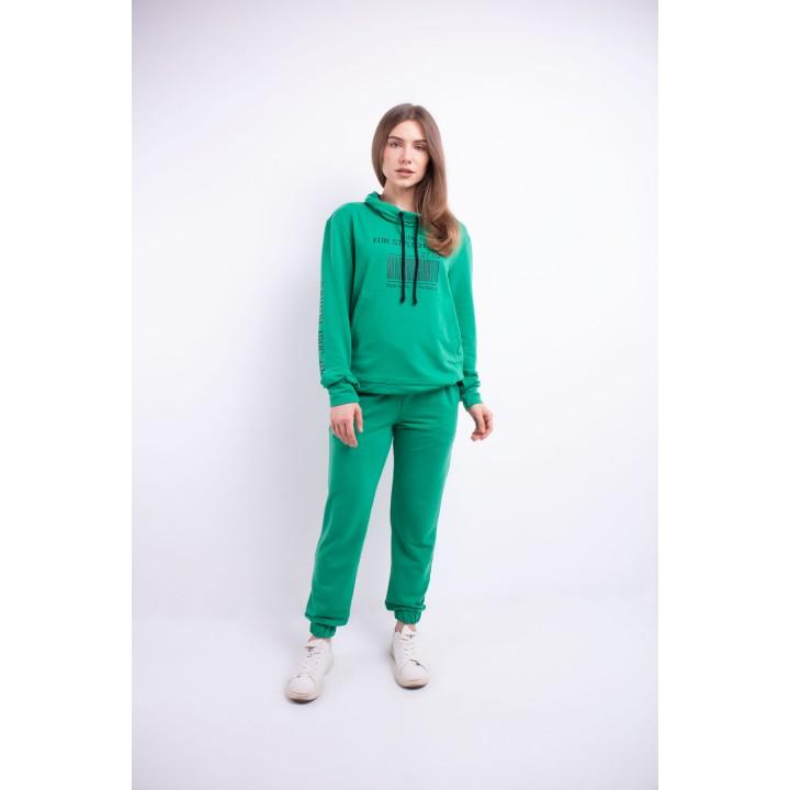Купить женский спортивный костюм Штрихкод (салатовый)