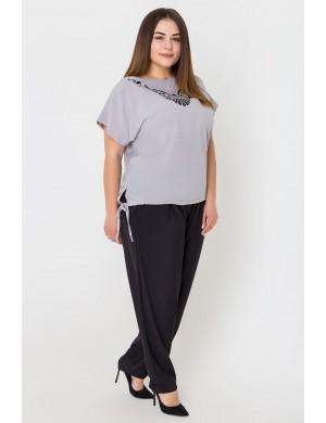 Женские брюки большого размера Марни (черный)