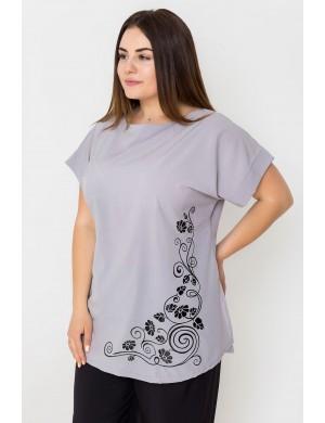 Женская кофта большого размера Мелиса (серый)