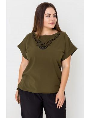 Женская кофта большого размера Темила (хаки)