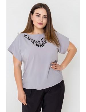 Женская кофта большого размера Темила (серый)