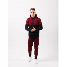 Мужской спортивный костюм Асос (бордовый)
