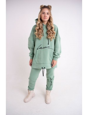 Женский теплый спортивный костюм Элана (мятный)