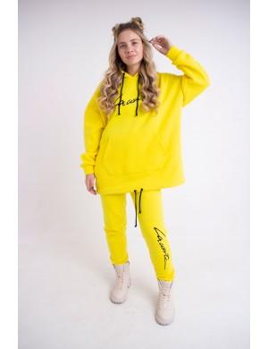 Женский теплый спортивный костюм Элана (желтый)