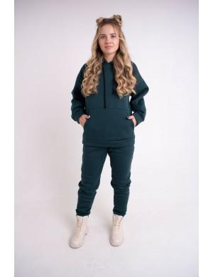 Женский теплый спортивный костюм Олли (зеленый)