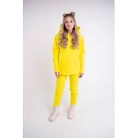 Женский теплый спортивный костюм Пинки (желтый)