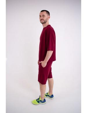Мужская футболка Элен (бордовый)