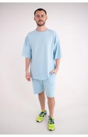 Мужская футболка Элен (голубой)