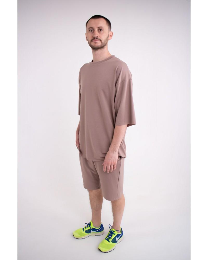 Мужская футболка Элен (коричневый)