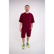 Мужской спортивный костюм Один (бордовый)