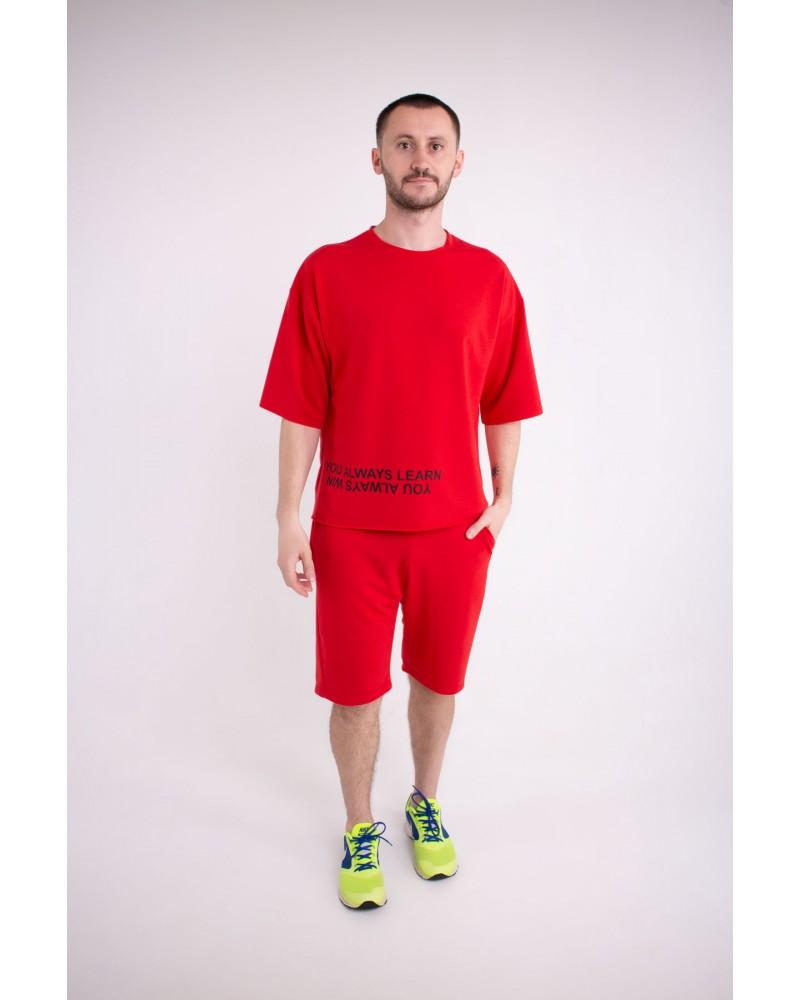 Мужской спортивный костюм Один (красный)