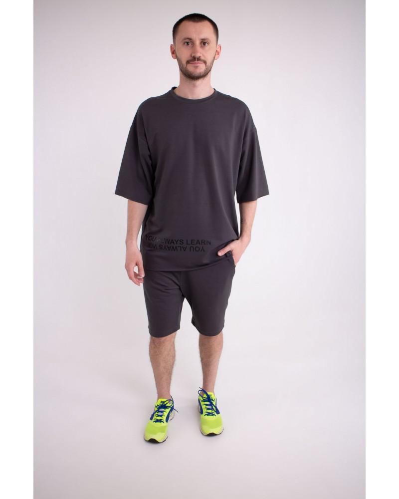 Мужской спортивный костюм Один (темно серый)