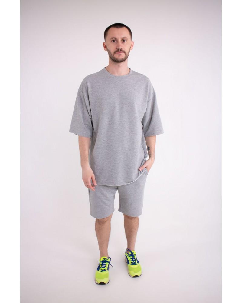 Мужской спортивный костюм Питт (серый)