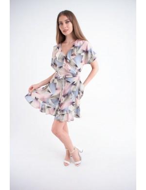 Женское платье Рюша (абстракция)