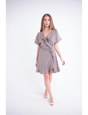 Женское платье Рюша (бежевый)