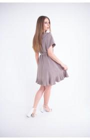 Купить женское молодежное платье Рюша (бежевый)