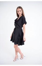 Купить женское молодежное платье Рюша (черный)