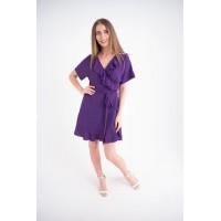 Женское платье Рюша (фиолетовый)