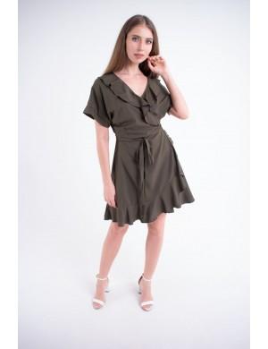 Женское платье Рюша (хаки)