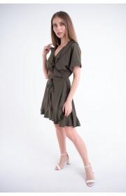 Купить женское молодежное платье Рюша (хаки)