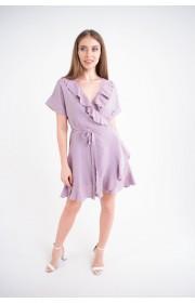 Купить женское молодежное платье Рюша (лиловый)