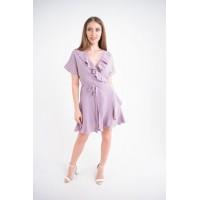 Женское платье Рюша (лиловый)