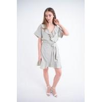 Женское платье Рюша (мятный)