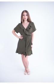 Купить женское молодежное платье Рюша (оливковый)