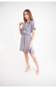 Купить женское молодежное платье Рюша (серый)