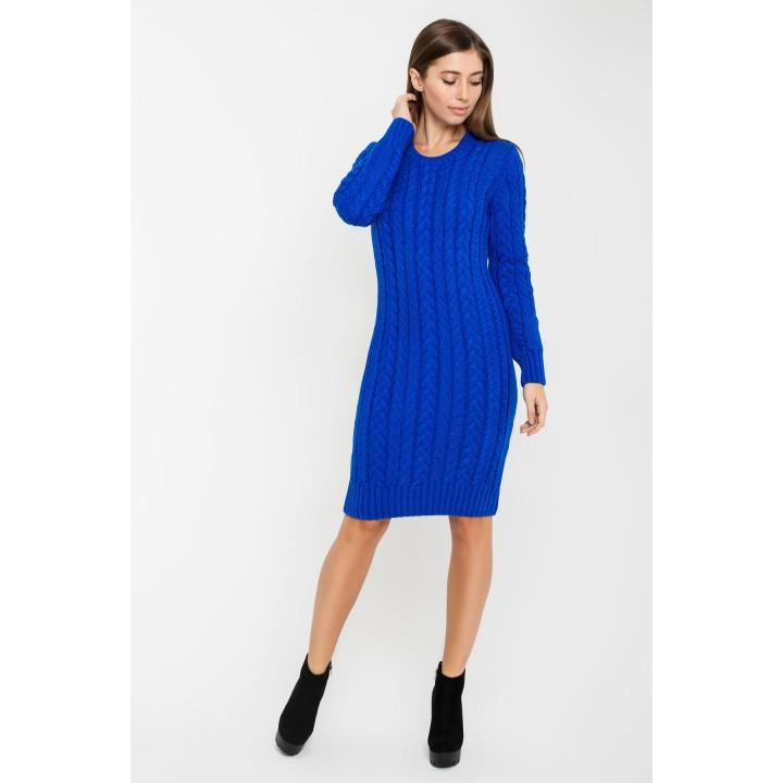 Платье вязаное Бетти (электрик)