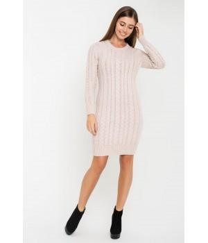 Платье вязаное Бетти (пудра бежевый)