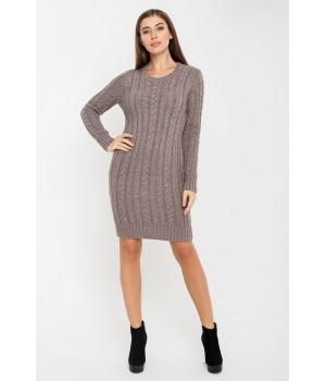 Платье вязаное Бетти (серо-коричневый)