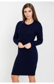 Платье вязаное Бетти (синий)