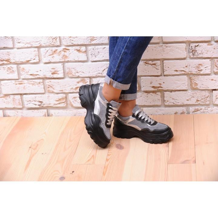 Купить молодежные женские кроссовки серый №1322