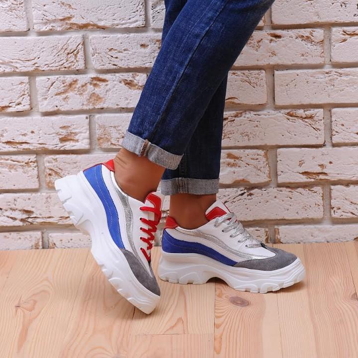 Купить молодежные женские кроссовки синий №1322