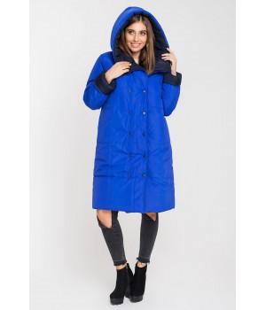 Зимняя двусторонняя куртка Джени (синий/электрик)