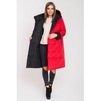 Зимняя двусторонняя куртка Джени (красный/черный)