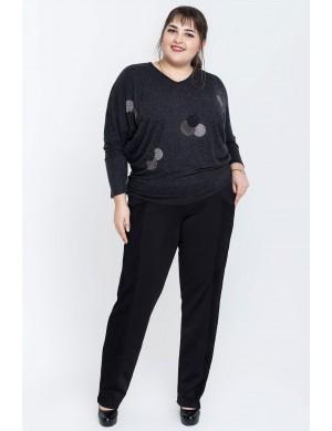 Женские брюки большого размера Артис (черный)