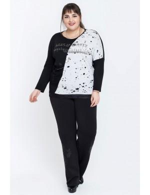Женские брюки большого размера Оджи (черный)