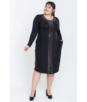 Платье Стразы (черный)