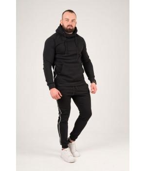 Мужской спортивный костюм Лампас (черный)