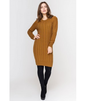 Платье вязаное Бетти (горчица)