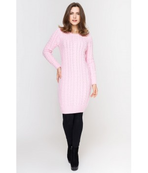 Платье вязаное Бетти (розовый)