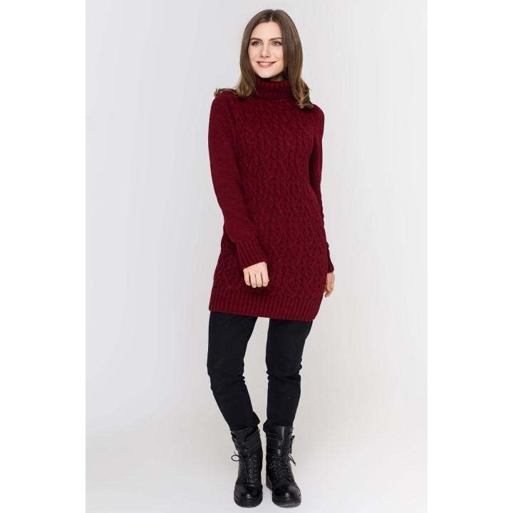 Туника - платье Ида (бордовый)
