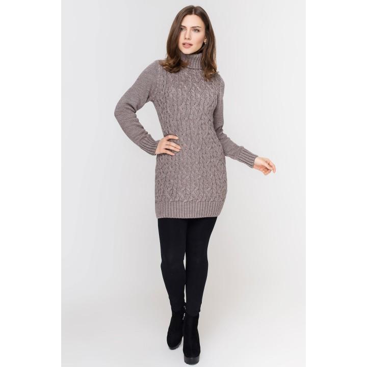 Туника - платье Ида (серо коричневый)