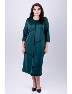 Женское платье большого размера Мери (зеленый)
