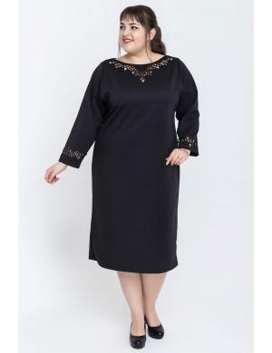 Женское платье большого размера Шайли (черный)