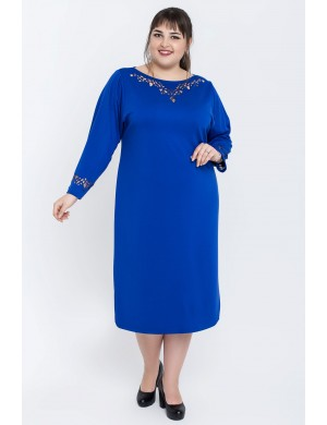 Женское платье большого размера Шайли (электрик)